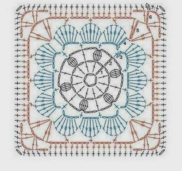 Pin de Sita De Hond en Squares | Pinterest | Patrones, Cuadrados y ...