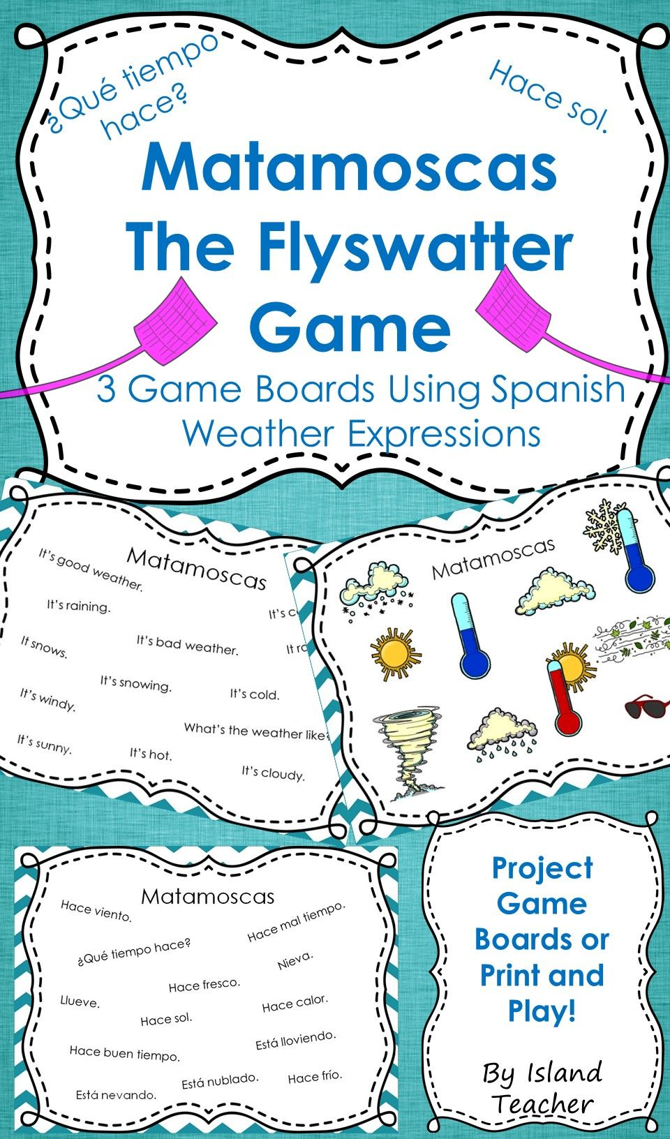 Workbooks weather expressions in spanish worksheets : Spanish Weather Expressions Matamoscas (Flyswatter) Game | Game ...