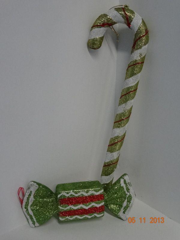 Bastones y caramelos para decorar en esta navidad te rbol - Caramelos de navidad ...