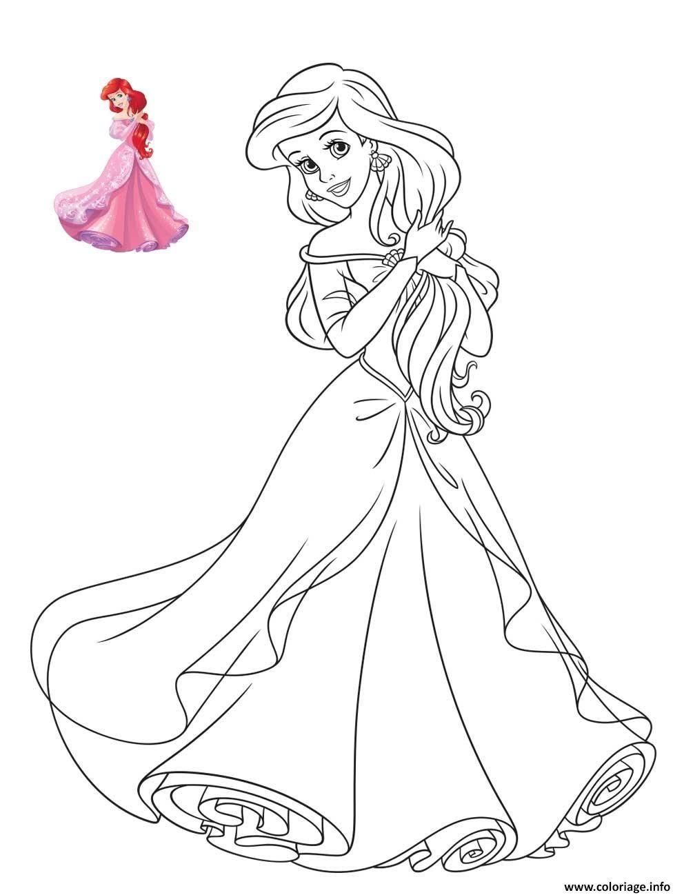 26 Prestigieux Coloriages Princesses Disney Photograph  색칠책