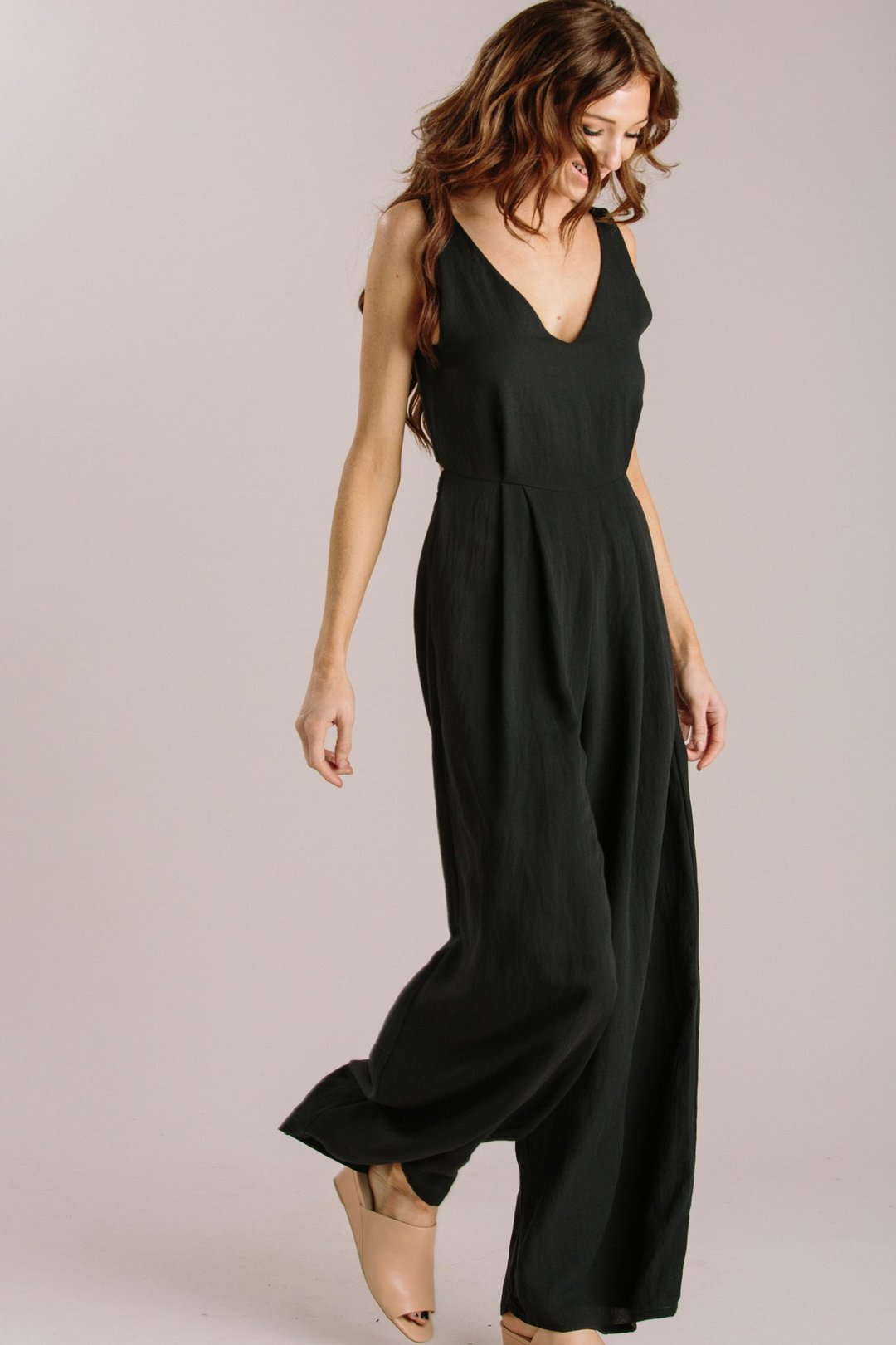 9fa88d2454c9 Abigail Black Tie Back Jumpsuit - Morning Lavender - https://morninglavender .com