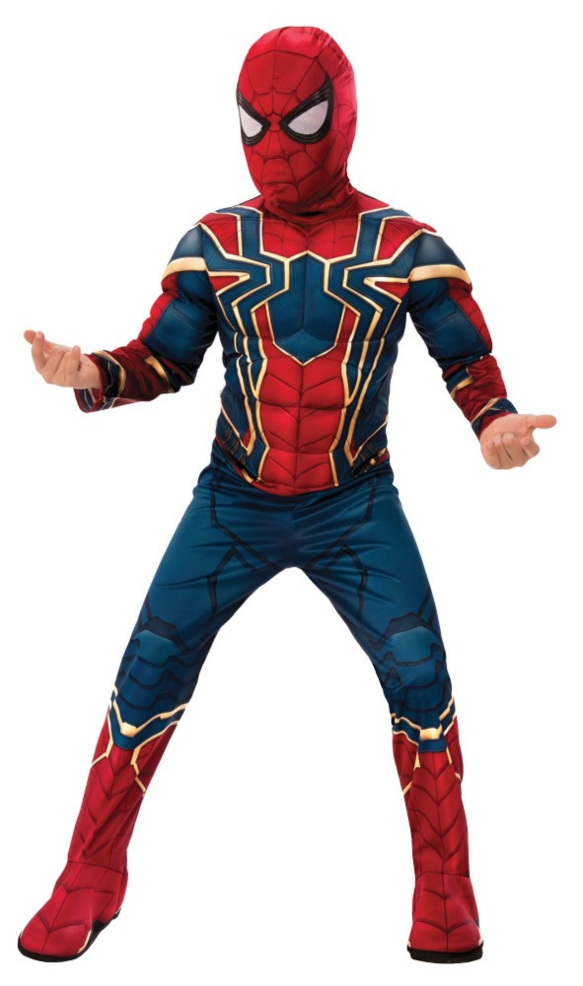 Boys Official Iron Spiderman Avengers Endgame Fancy Dress Superhero Costume