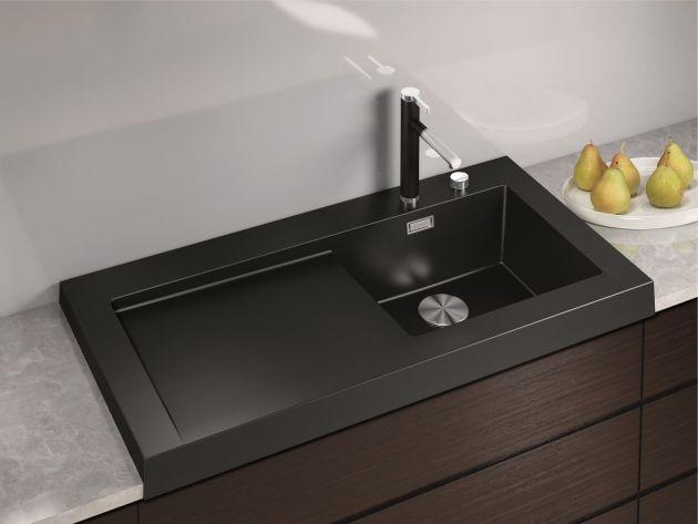 granit spülbecken modex blanco schwarz kratzfest hitzebeständig - spülbecken küche granit