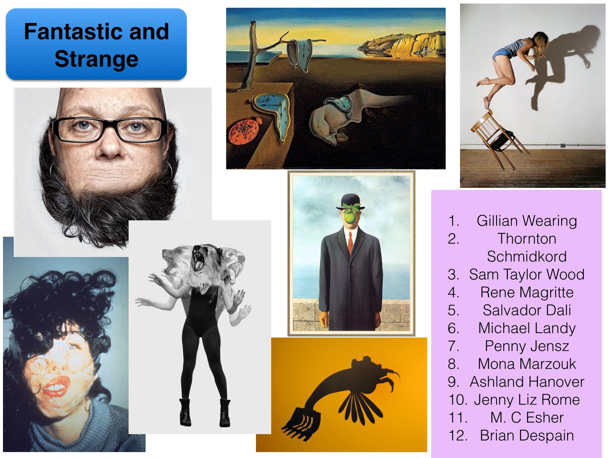 Artist Inspiration For Q2 Fantastic And Strange Aqa Fine