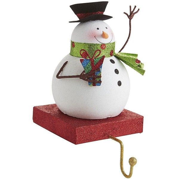 Pier 1 Imports Glitter Snowman Stocking Holder 6 60 Cad Liked On Polyvore Featuring