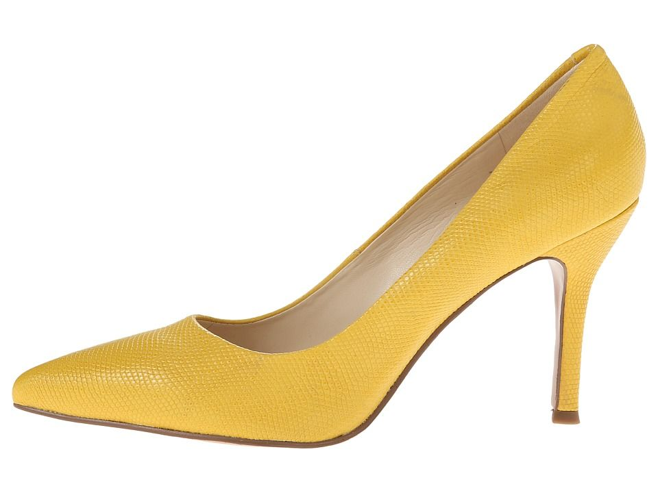 Nine West - Flax (Yellow Reptile) High Heels