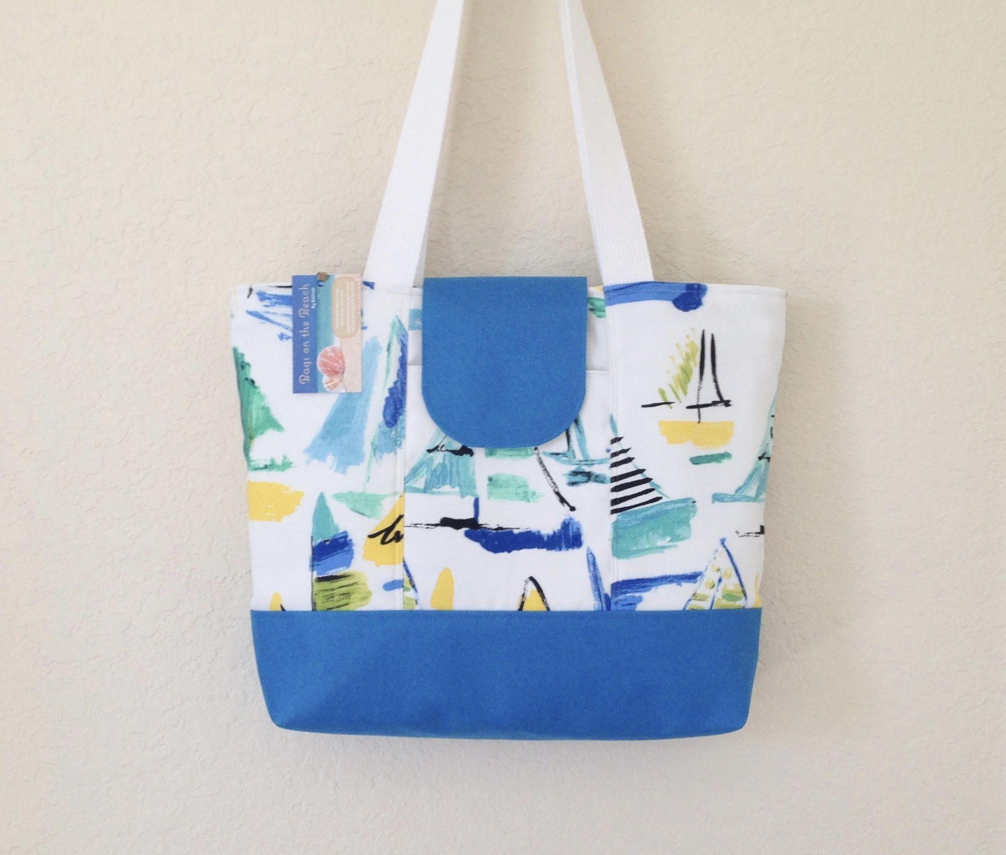 shoulder bag Fabric tote bag canvas with zipper beach bag