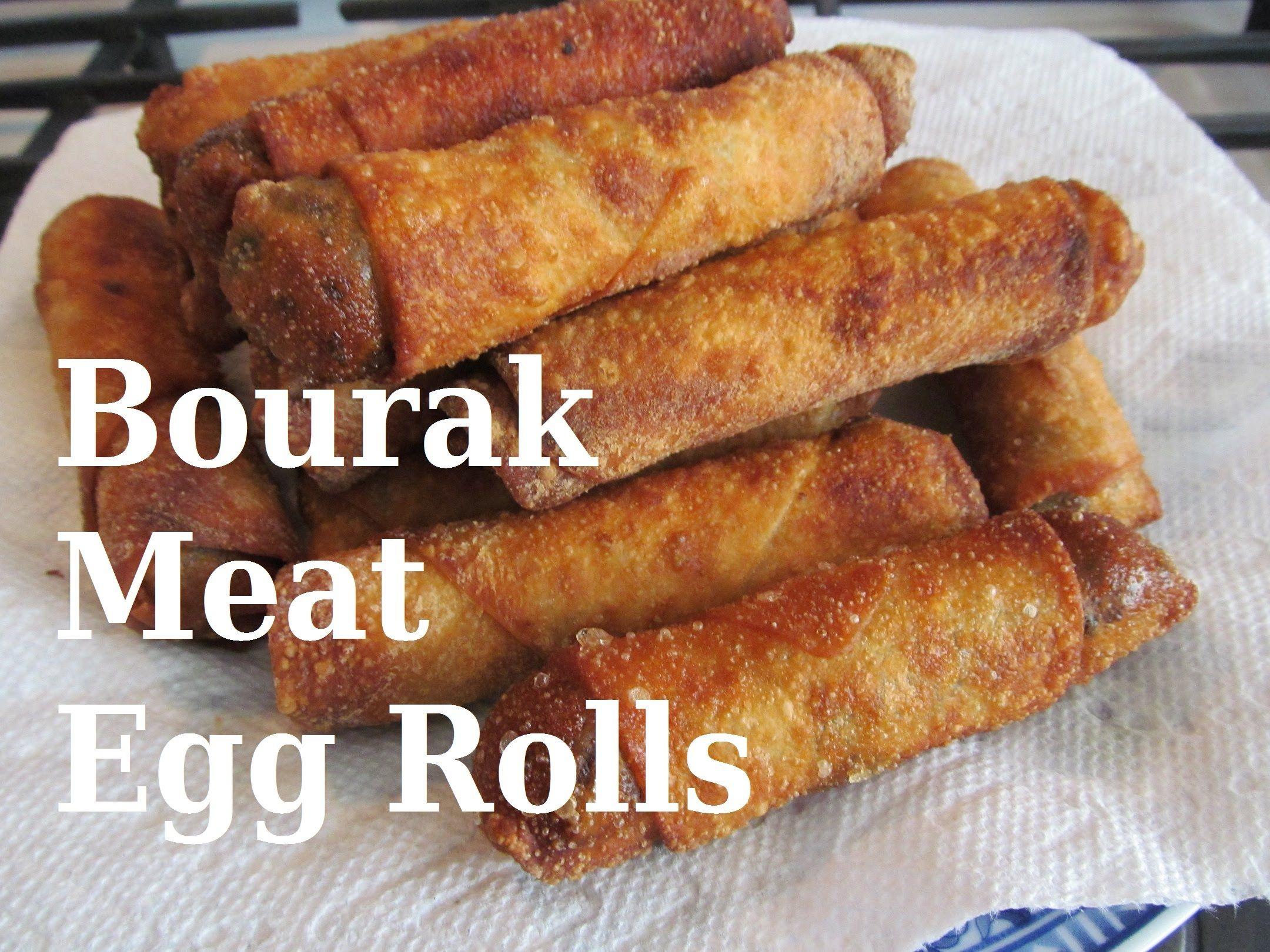 Bourak Iraqi Meat Egg Rolls بورك اللحم العراقي Recipe 154 Beef Egg Roll Recipe Egg Roll Recipes Recipes