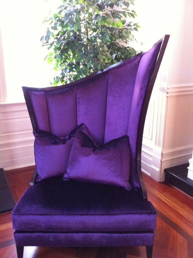 Purple Asymeterical Accent Chair Purple Furniture
