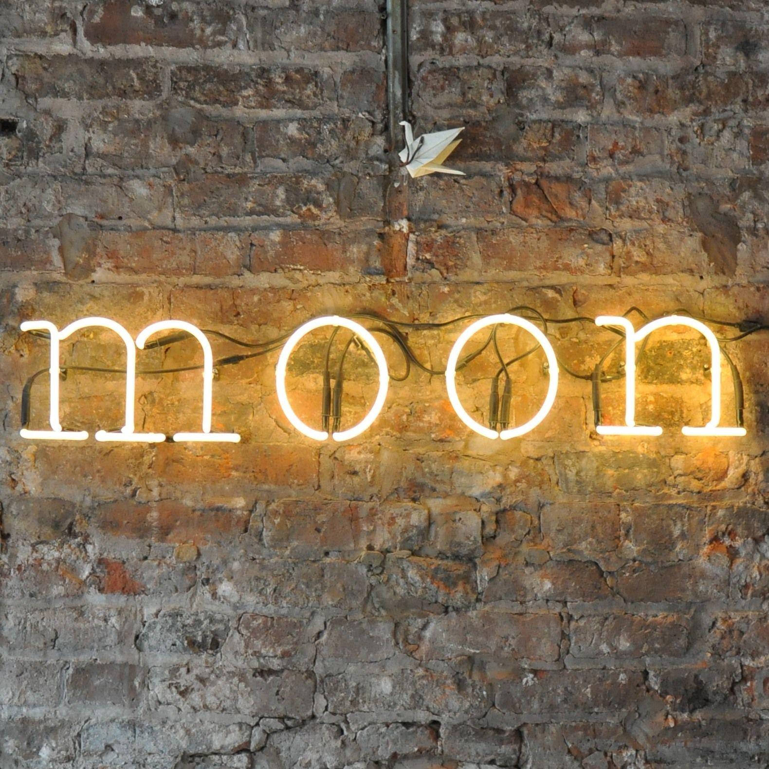 Neon Light On Bare Brick Wall Google Search Bar Interior