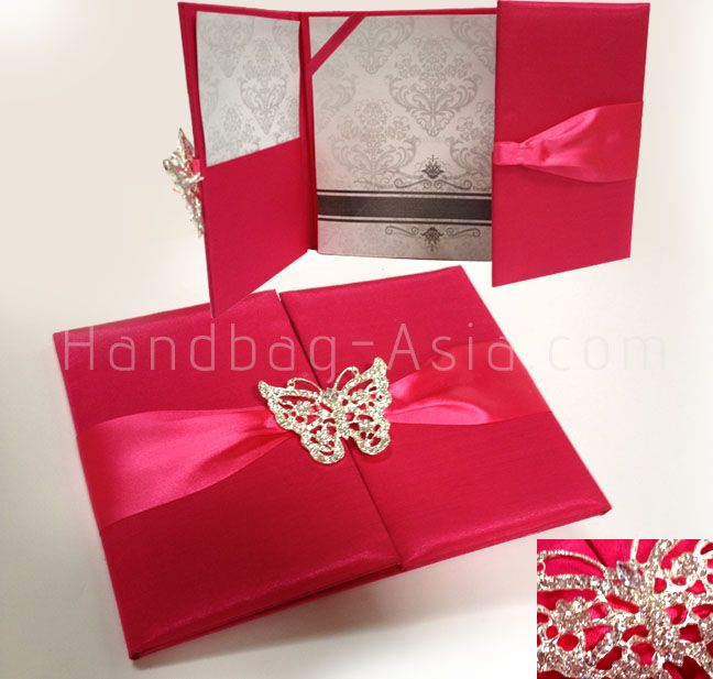 17 Best images about Pocket Folder Invitation Folios on – Pink and Red Wedding Invitations