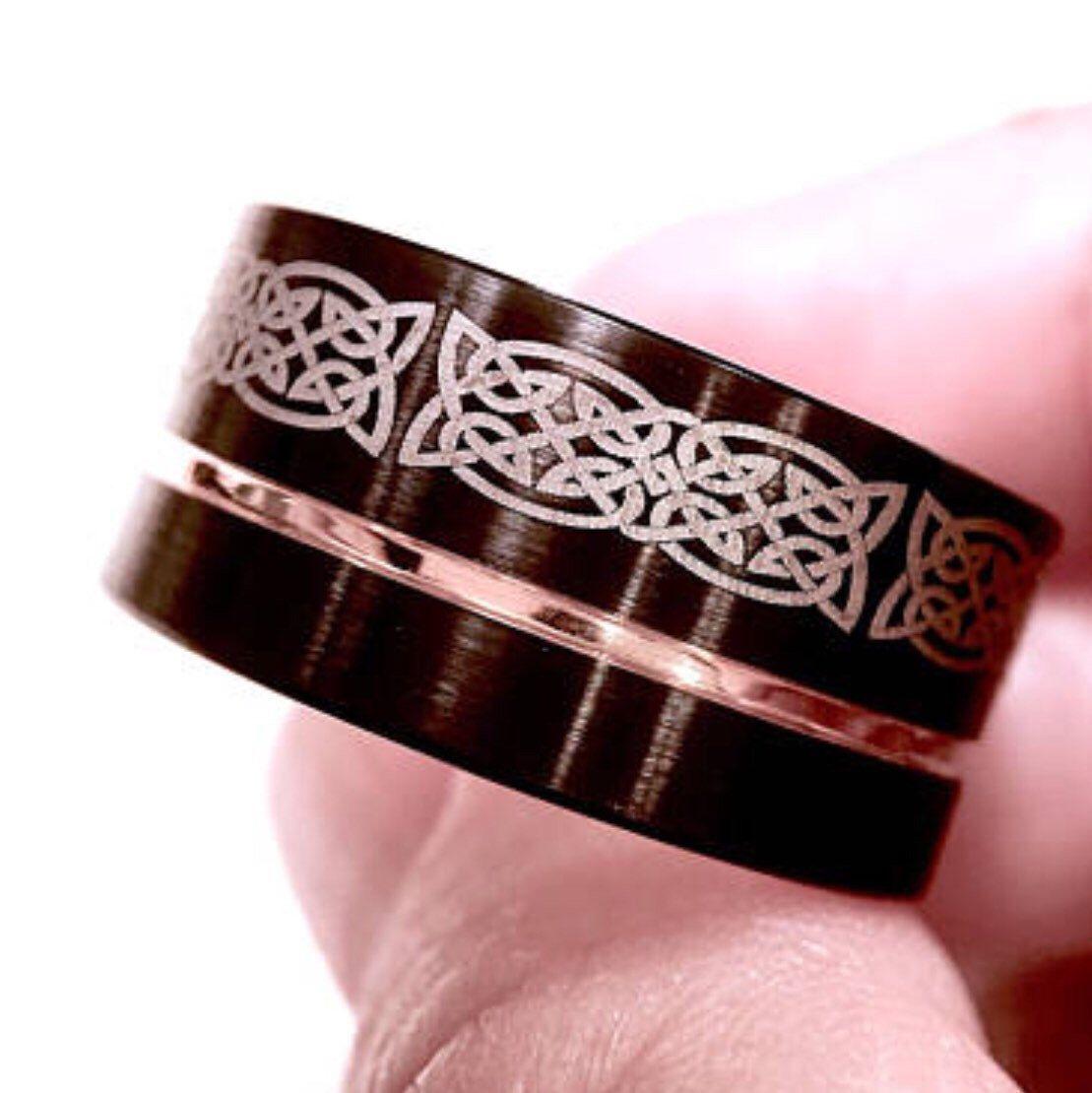 Celtic knot wedding bands men and women