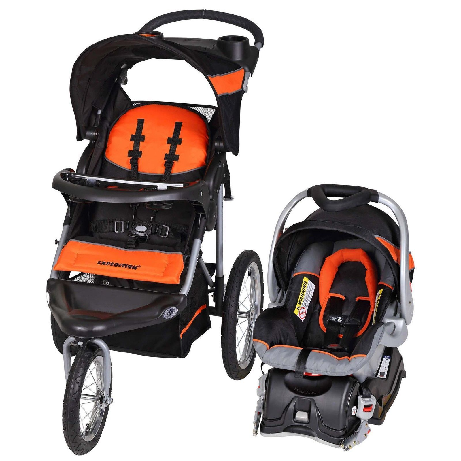 nice Baby Trend Expedition Travel System with Stroller & Car Seat Millennium Orange