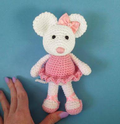 Ballerina Muis Gratis Patroon Haken Pinterest Croché