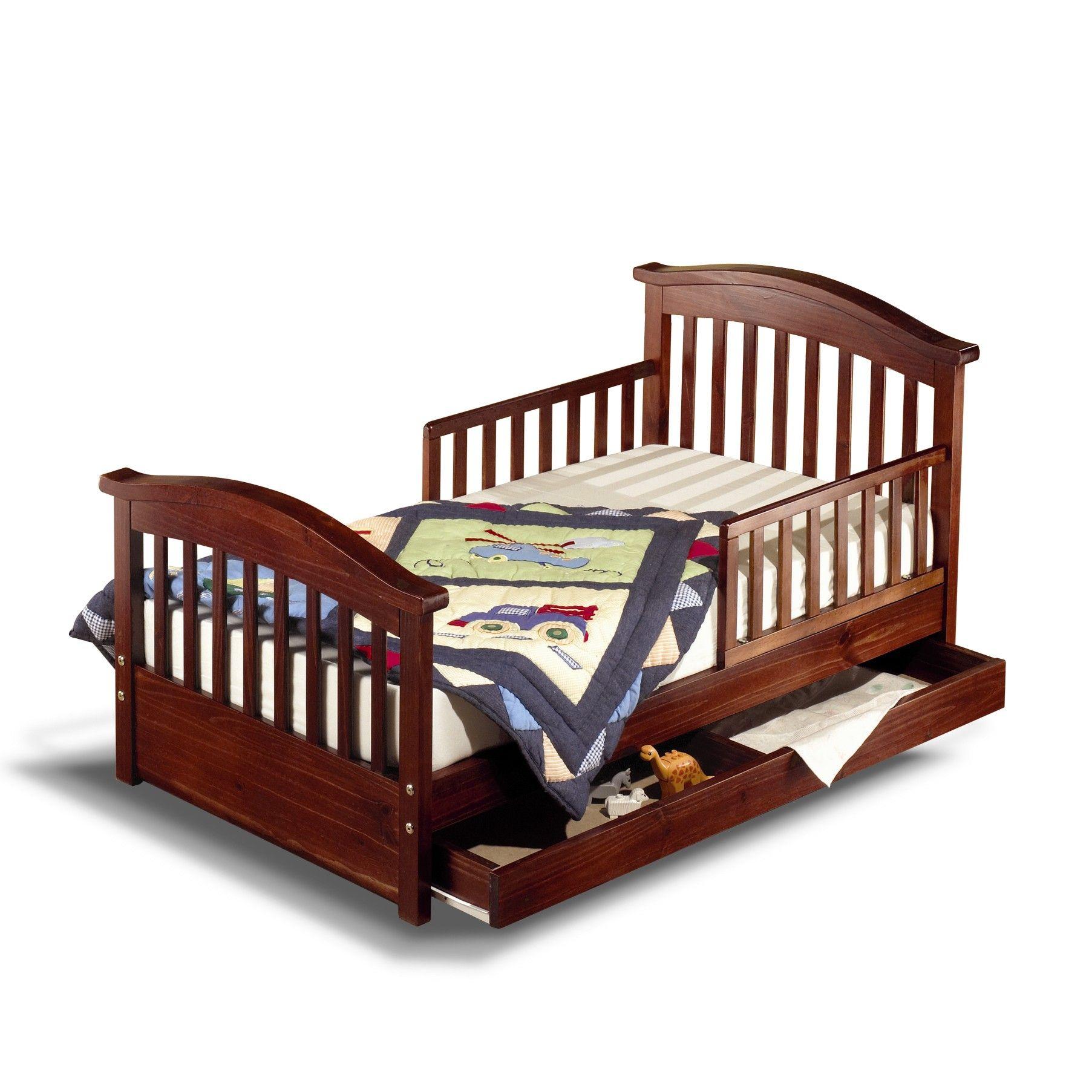 Sorelle Joel Pine Toddler Bed Finish Cherry Pine 776 Cherry Pine Kids Beds Bedroom Furniture Toddler Bed Boy Toddler Bed With Storage Kid Beds