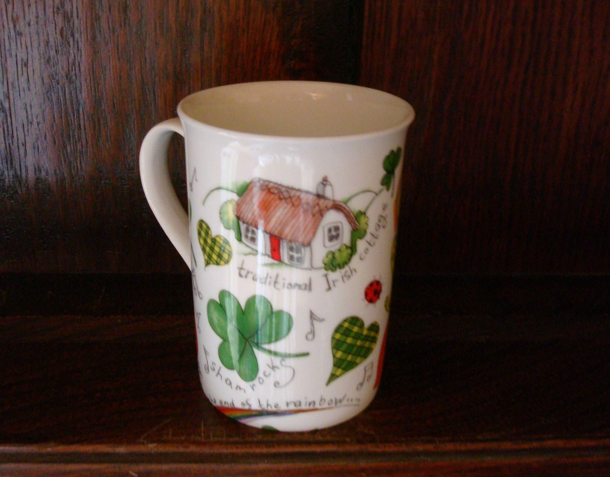 IRISH Cottage Coffee Cup Beaker Irish cottage, Beaker