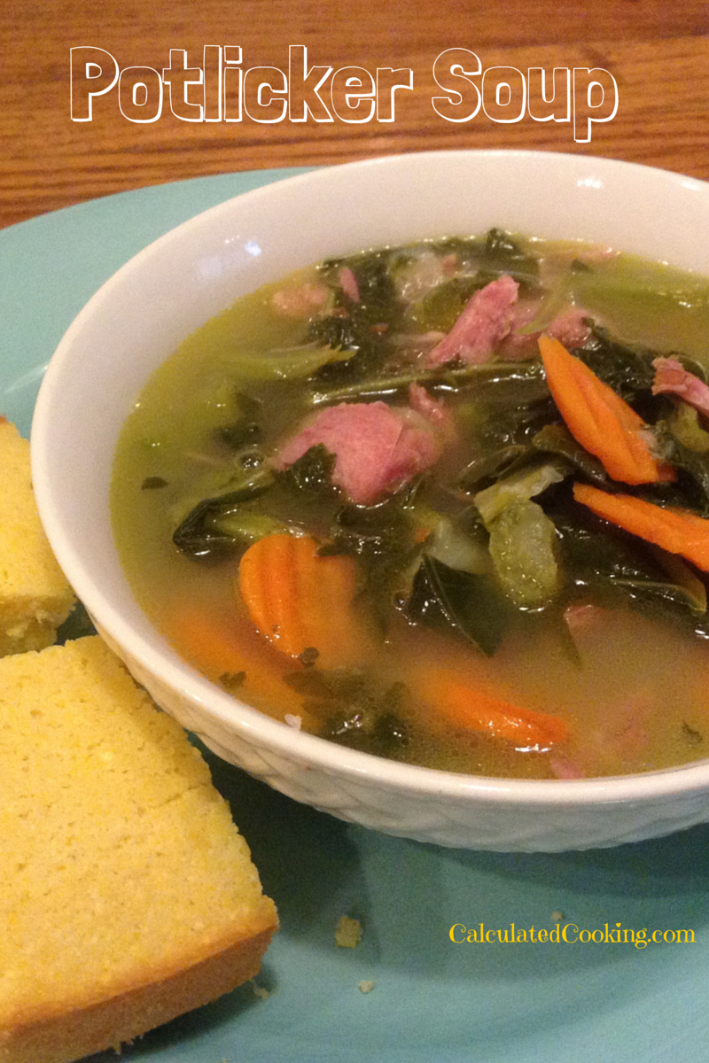 Also known as potlikker, pot likker, or pot liquor soup.  This is a southern soup that uses the leftover broth from a pot of collard, mustard, or turnip greens. If you haven't tasted pot li…