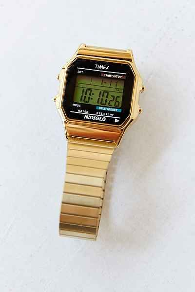 Timex Gold Core Digital Watch - Urban Outfitters