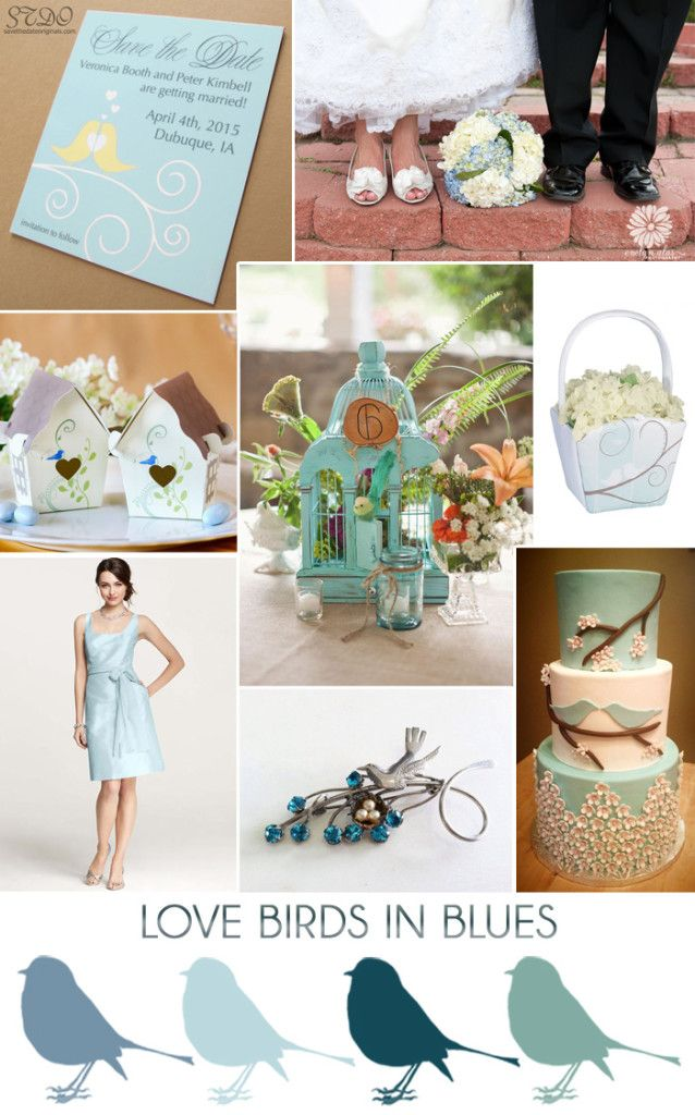 Blue Love Birds Wedding Inspiration Rustic Spring Wedding