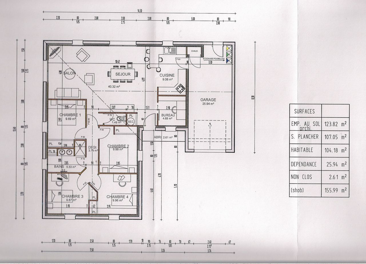 plan de maison plans de maisons en l ou en v st