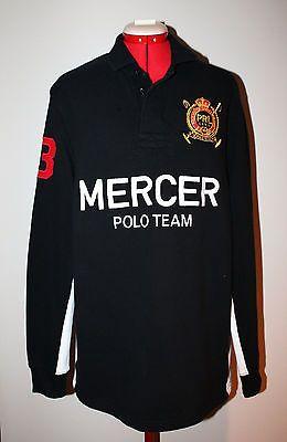 493f3f65 Men's POLO RALPH LAUREN Custom Fit Mercer Polo Team Black Polo - Sz. Lg