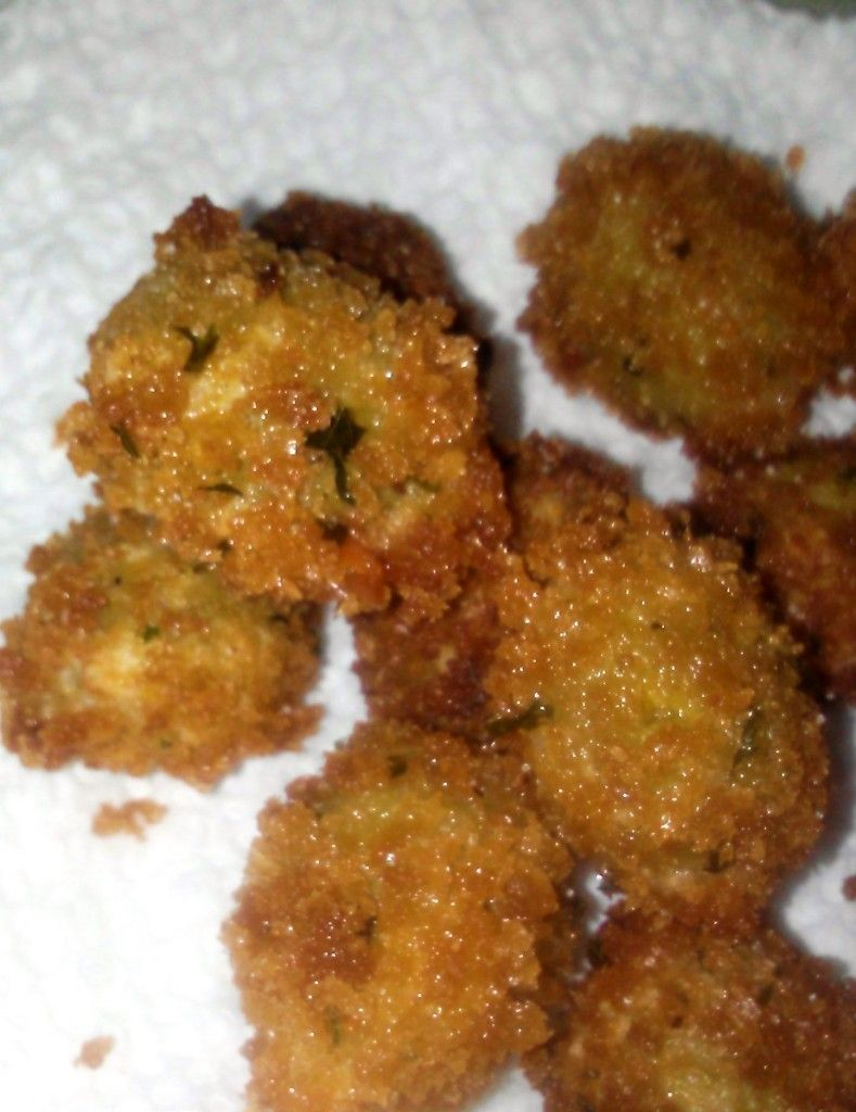 Fried Green Olives Green olive appetizers, Olive recipes