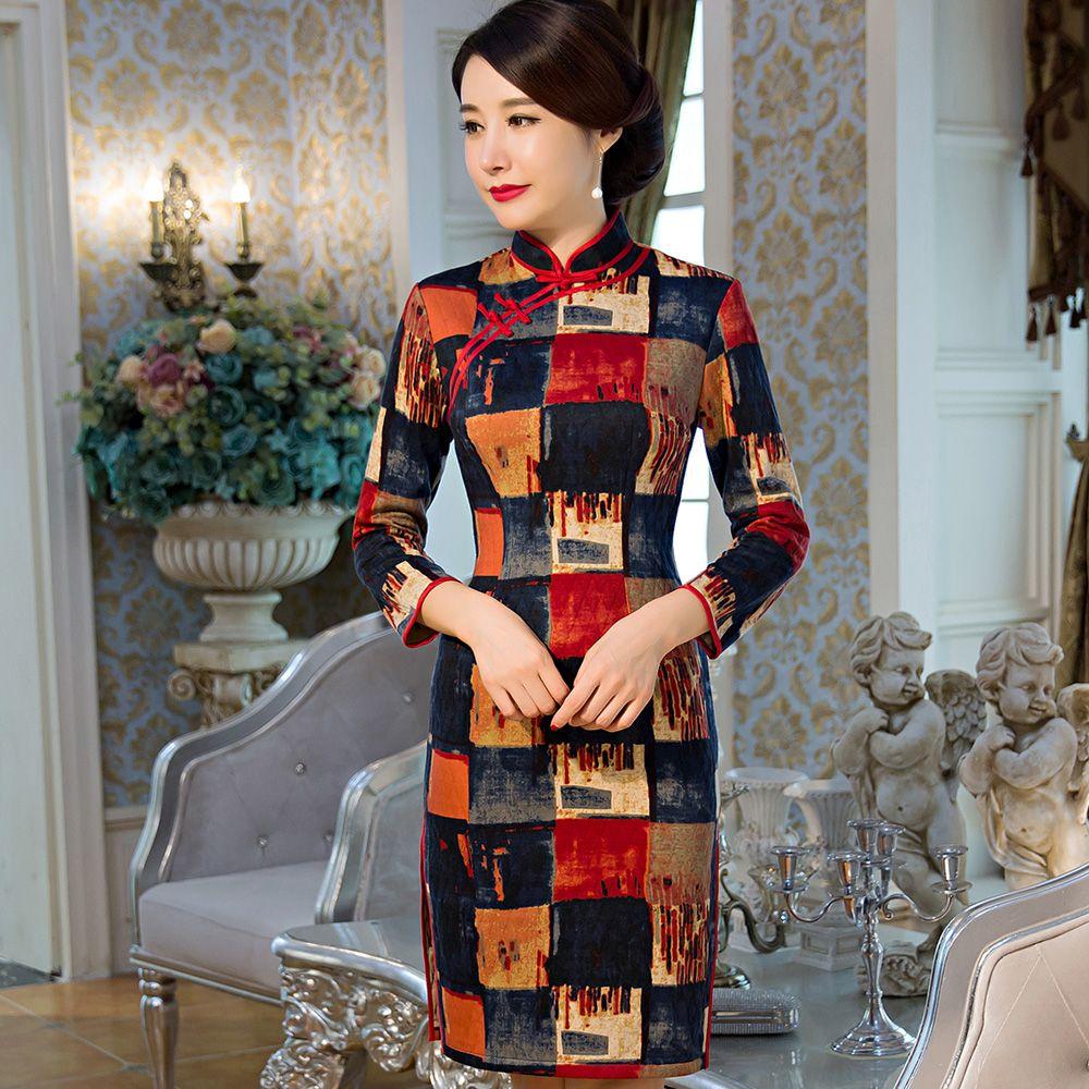 Qipao Silk Chinese Dress Https Www Ichinesedress Com Chinese Long Dress Cheongsam Dress Cheongsam [ 1000 x 1000 Pixel ]