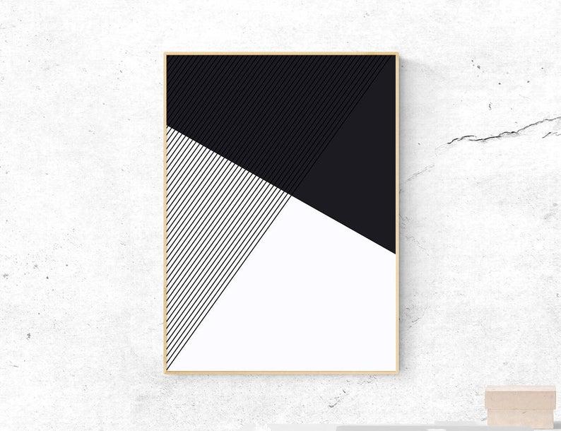 Geometric Wall Art Minimalist Home Decor Printable Etsy Geometric Wall Art Modern Art Diy Minimalist Wall Art