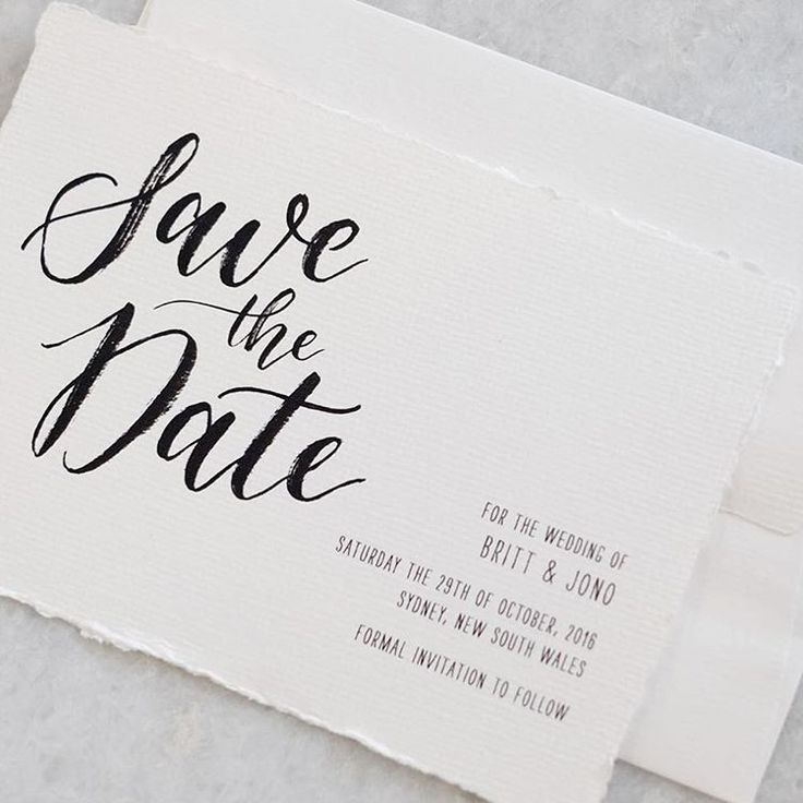 Save the date for a gorgeous couple ✨ hand calligraphy and ...