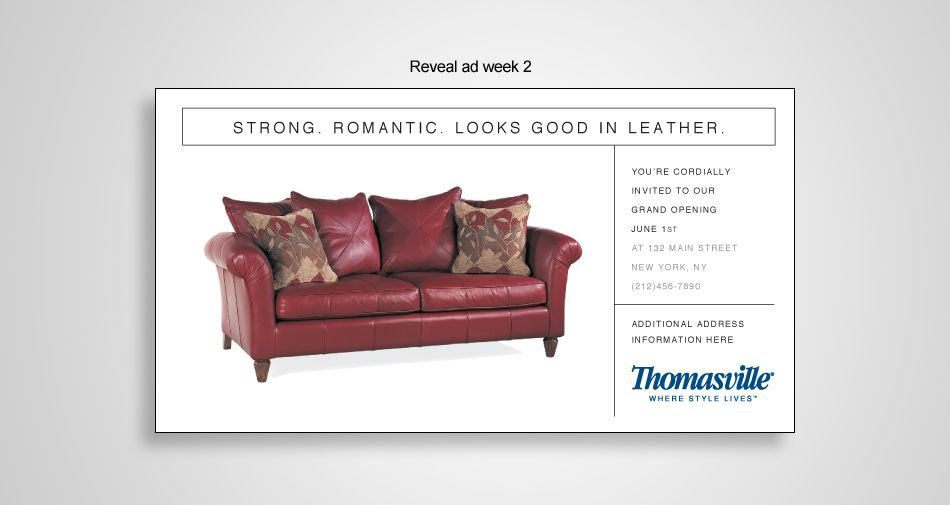 Advertising Campaign Design For Thomasville Furniture
