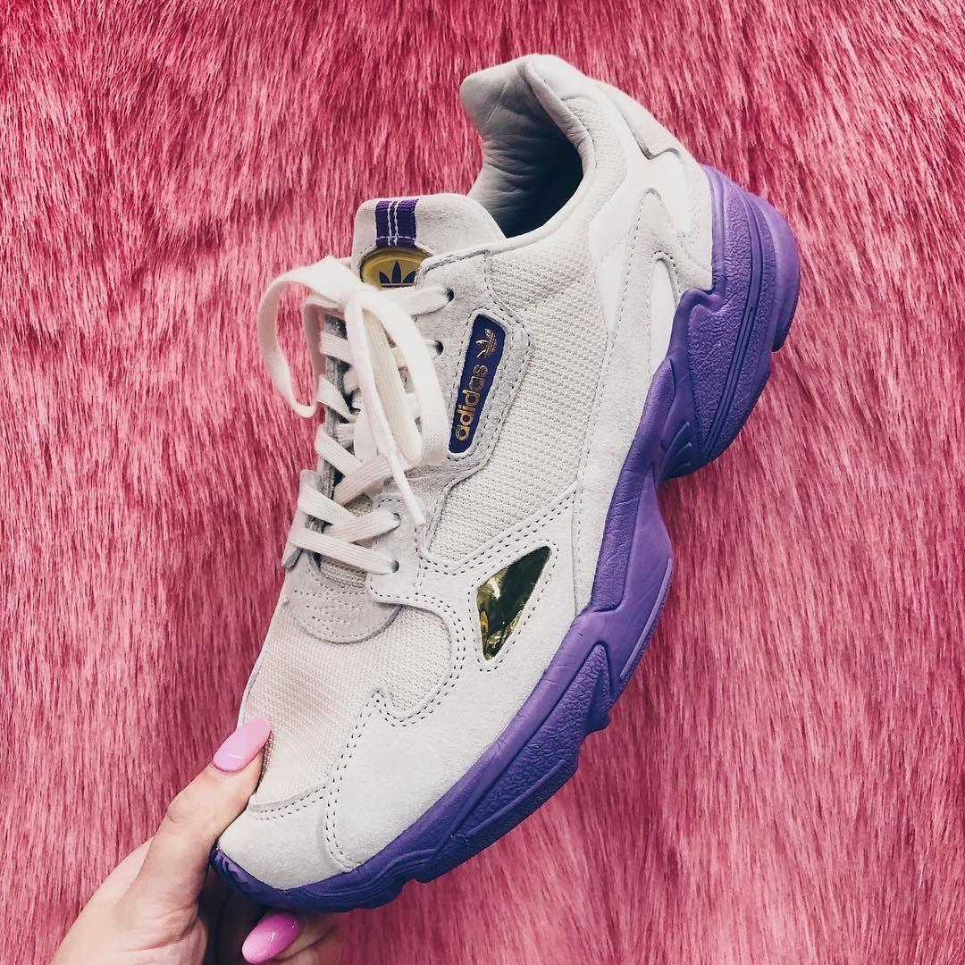 adidas originals tfl falcon in off white and purple