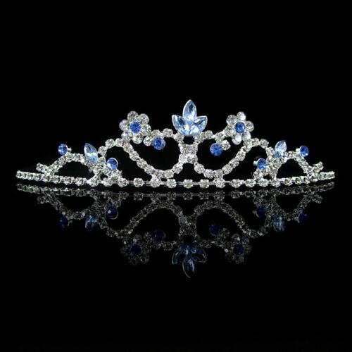 5cm High Little Flower Pearl Crystal Adult Big Tiara Crown Wedding Prom Party