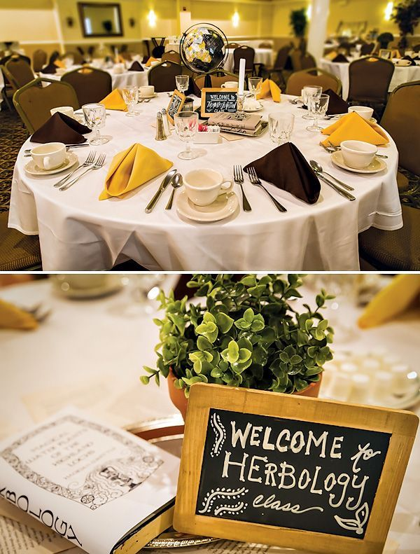 9ec155ab305b Harry potter table numbers - Greg Obierek Photography via Hostess With The  Mostess