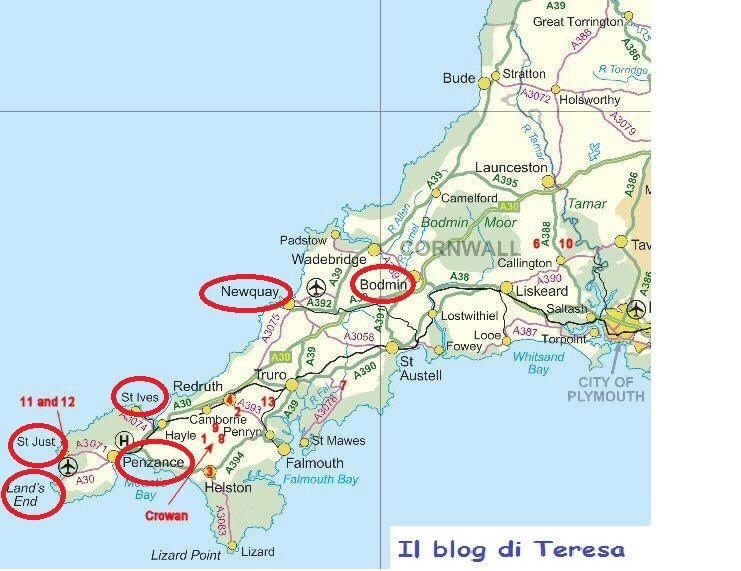 Cartina Cornovaglia.Cornovaglia Cornovaglia Cornovaglia Inghilterra E Viaggi