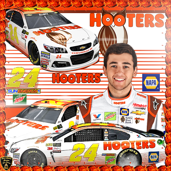 Here Is My Chase Elliott Hooters Wallpaper That I Have