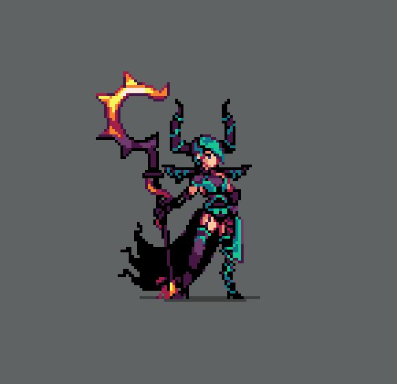 Pixel Art Character Design Tutorial : Lilithe blightchaser fanart duelyst pixel art