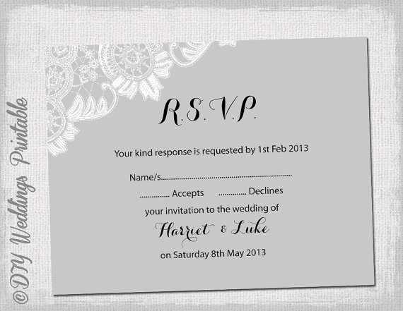 Rsvp template free choice image template design ideas for Va nva analysis template
