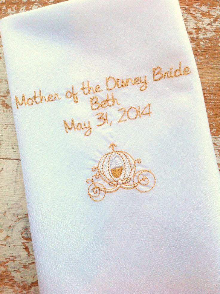 Embroidered wedding handkerchief monogrammed custom