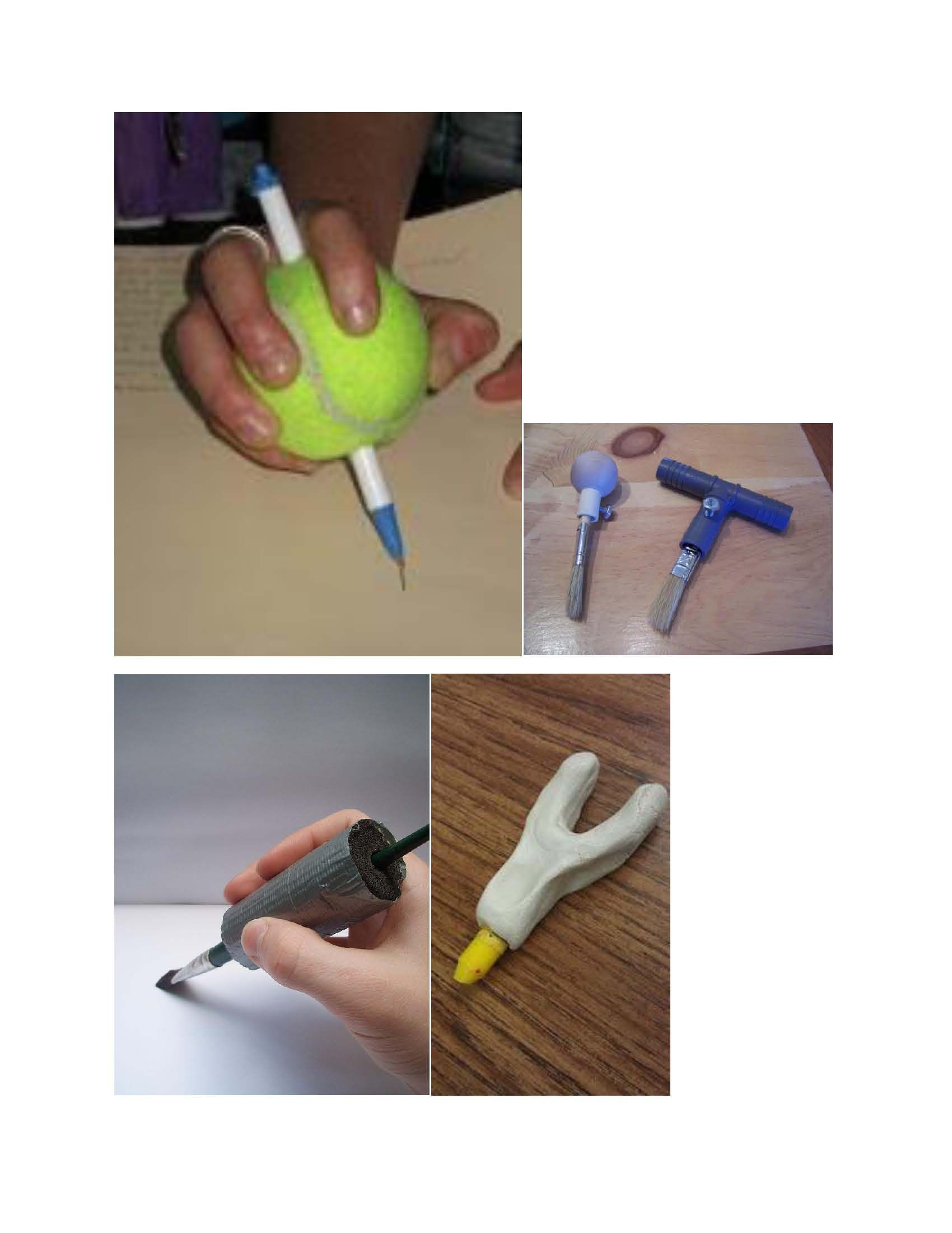 These Are Different Adaptations To Writing Utensils So Individuals With Fine Motor Impairments