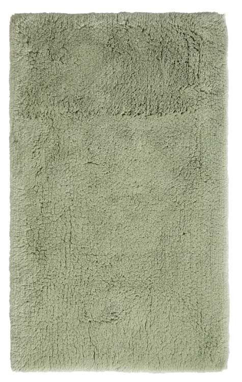 Der Kuschelige Badteppich Calo In Grun Ist Aus 100 Baumwolle Der