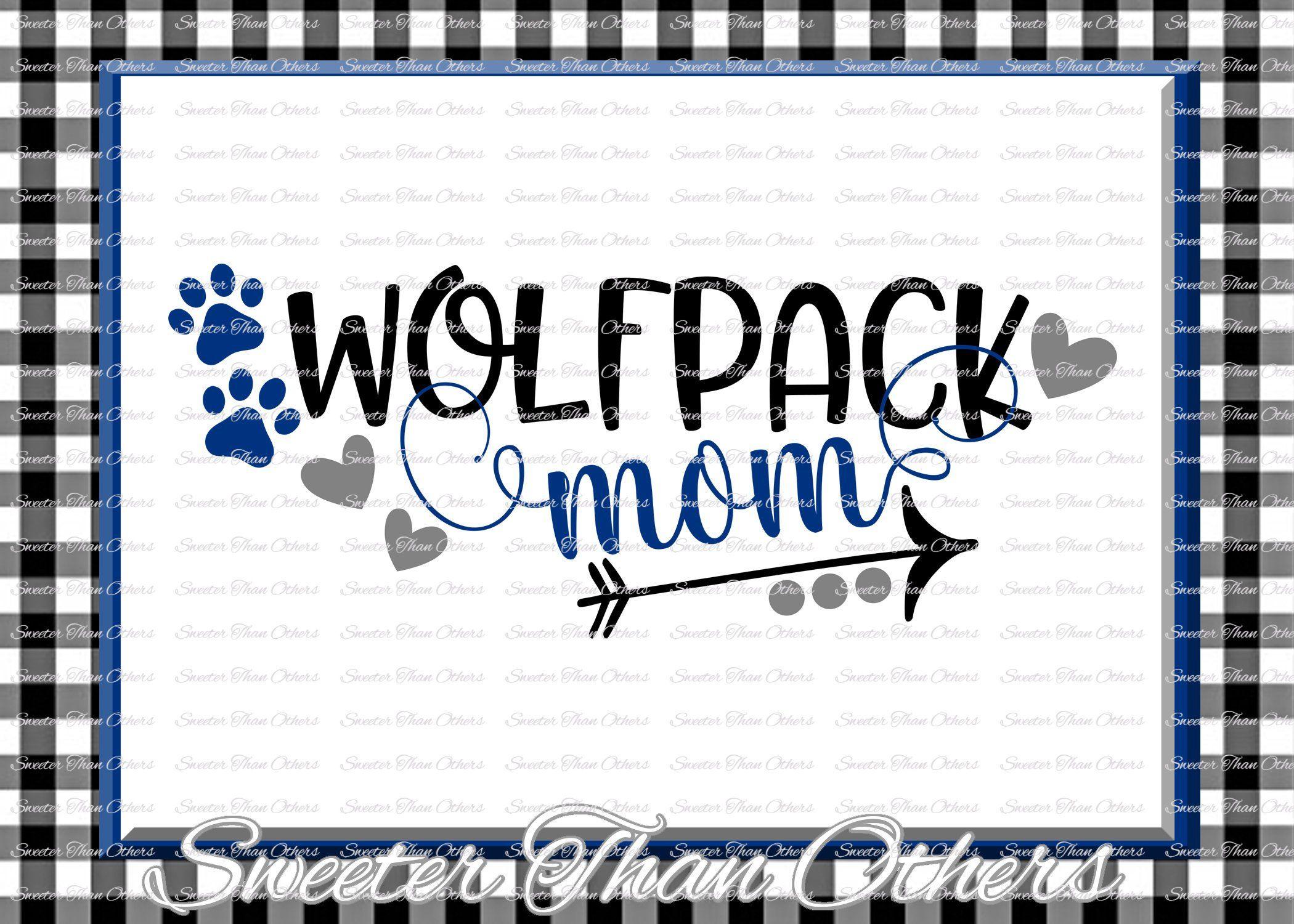Wolfpack Mom Svg Football Wolfpack Baseball Wolfpackt