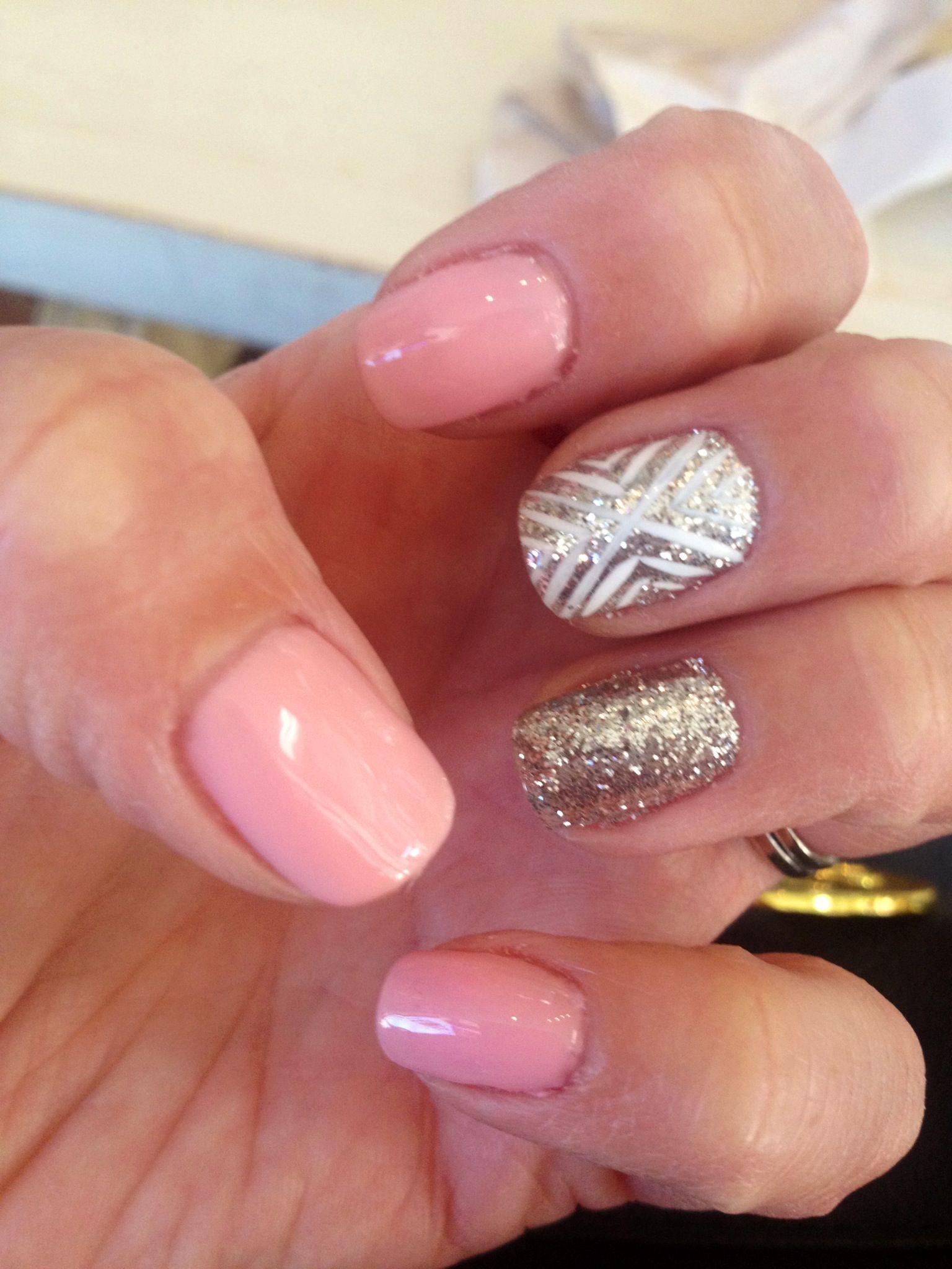 Nail Art, Nail Design, gellish, shellac, shellack, pink, sparkle ...
