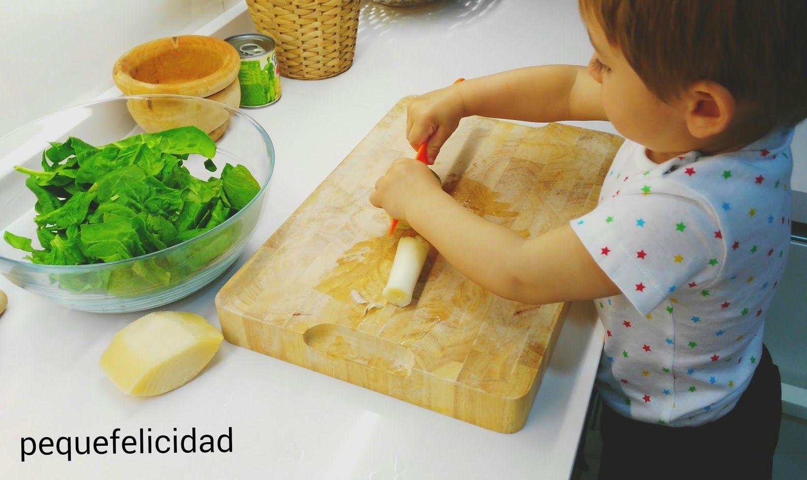 PEQUEfelicidad: COCINA CON TU PEQUE; deliciosas espinacas a la crema