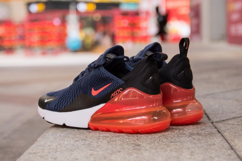 brand new 38450 42e2d Nike Air Max 270 AH8050-401 Blue Red Shoes for Sale-06 ...