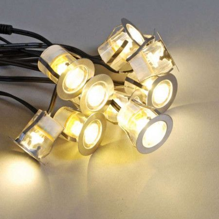 Komo LED built-in set of 10 pieces - IP65 - warm white Spectacular
