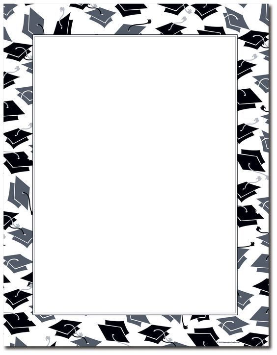 15 Free Graduation Borders {With 5 NEW Designs Graduation pre-k - graduation border templates free