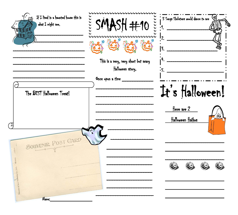 Smash Writing Fun For Junior High English Halloween