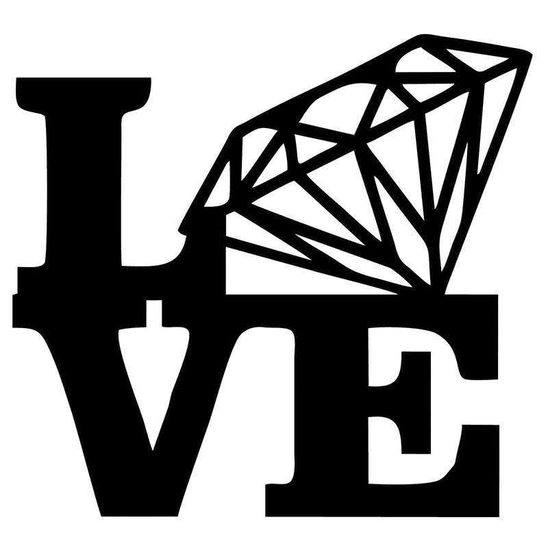 Wholesale Pcslot Pcslot Novelty Love Diamond Stacked Funny - Vinyl decals for cars wholesale