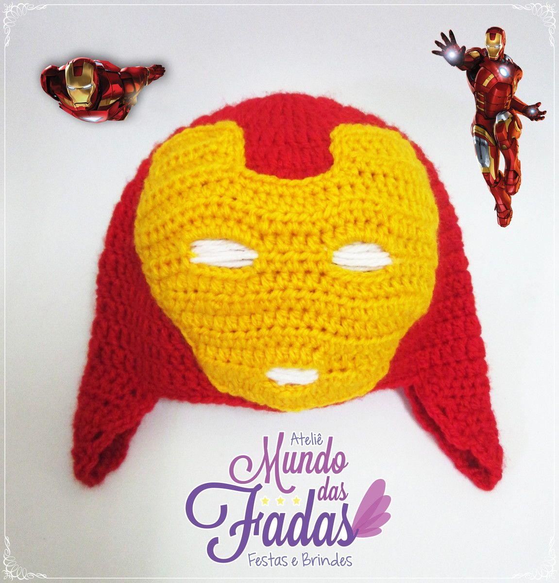 Touca Homem de Ferro Touca De Croche Infantil 32d3c48ab3c