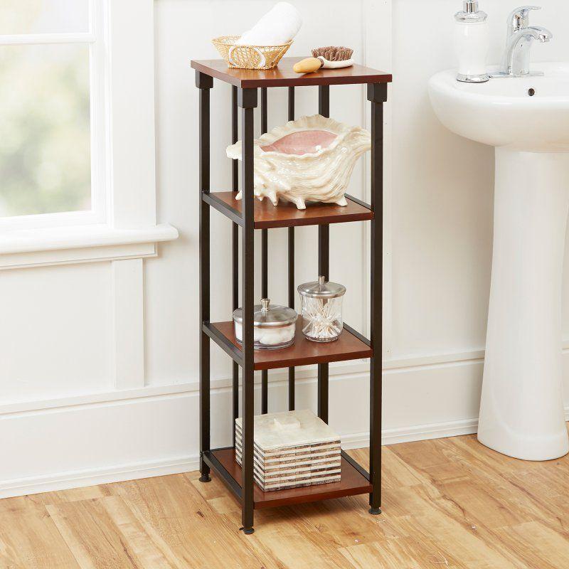 Silverwood Products Mixed Material Bathroom Collection Bronze 4 Tier Floor Shelf Bs1126 Com Bathroom Collections Floor Shelf Shelves